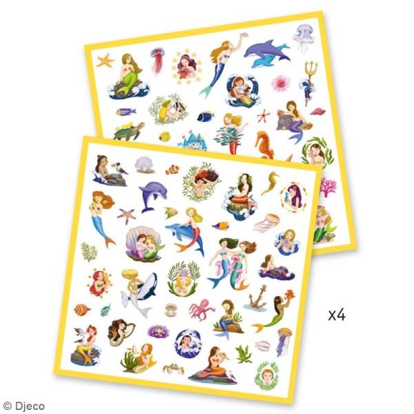 Djeco Stickers - Sirènes - 160 stickers - Photo n°3