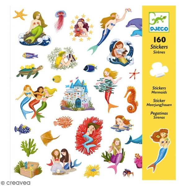 Djeco Stickers - Sirènes - 160 stickers - Photo n°1