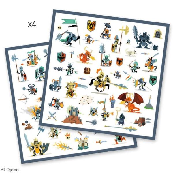 Djeco Stickers - Chevaliers - 160 stickers - Photo n°3
