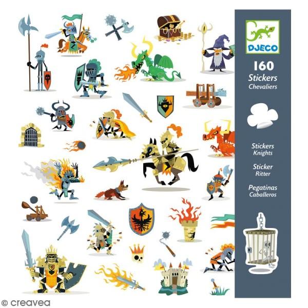 Djeco Stickers - Chevaliers - 160 stickers - Photo n°1