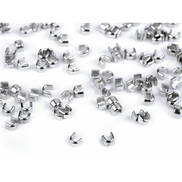 10g (5mm) de Nickel fermeture éclair Bouchon de 3mm, 5mm, Curseurs Et Autres, Fermetures à glissière - Photo n°1