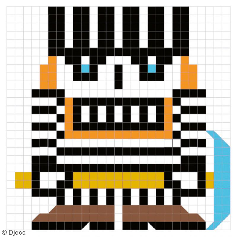 Coloriage pixels Skull boys - 20 créations - Photo n°2