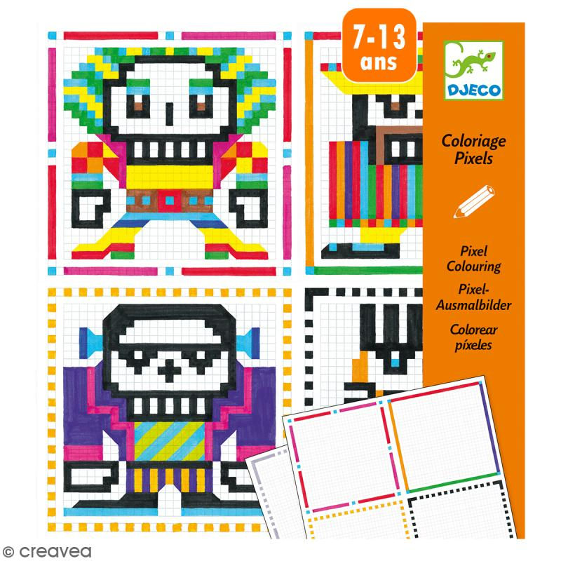 Coloriage pixels Skull boys - 20 créations - Photo n°1
