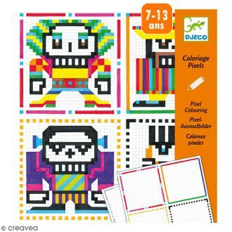 Coloriage pixels Skull boys - 20 créations