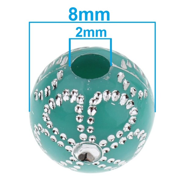 20 Perles en Acrylique Fleur 8mm Couleur Mixte, Creation bijoux, Bracelet, Collier - Photo n°2