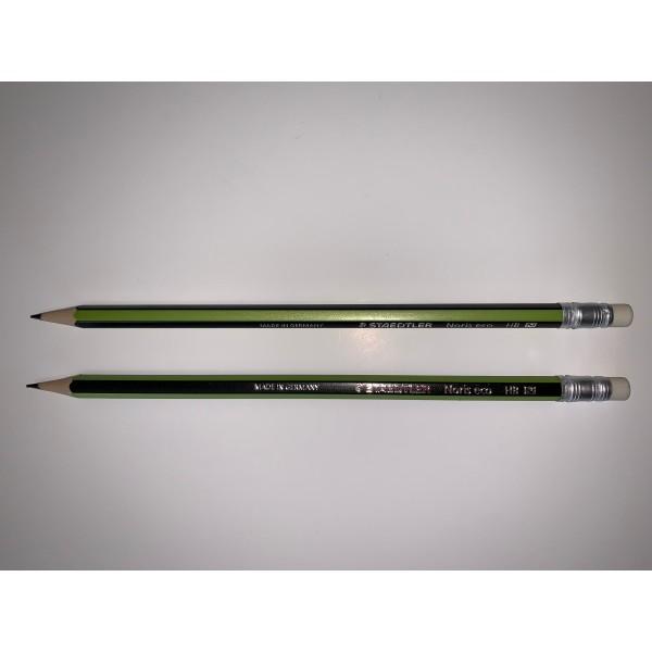 Crayon de bois HB Staedtler avec gomme - Photo n°1