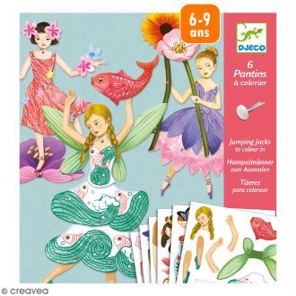 Kit Pantins Fées à colorier - 6 pcs