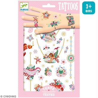 Tatouages temporaires - Les bijoux de Fiona - 2 planches