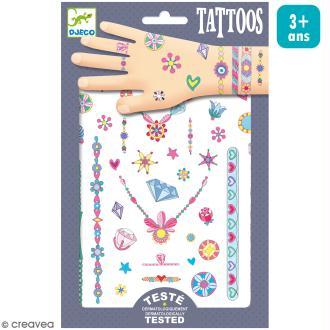 Tatouages temporaires Les bijoux de Jenni - 1 planche
