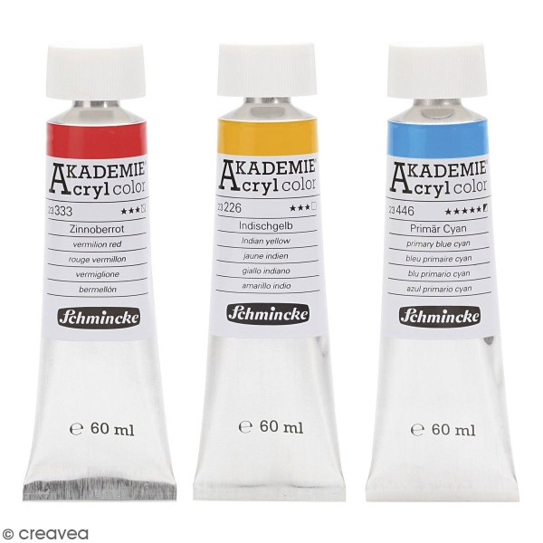 Peinture acrylique Akademie AcrylColor - Différents coloris - 60 ml - Photo n°1