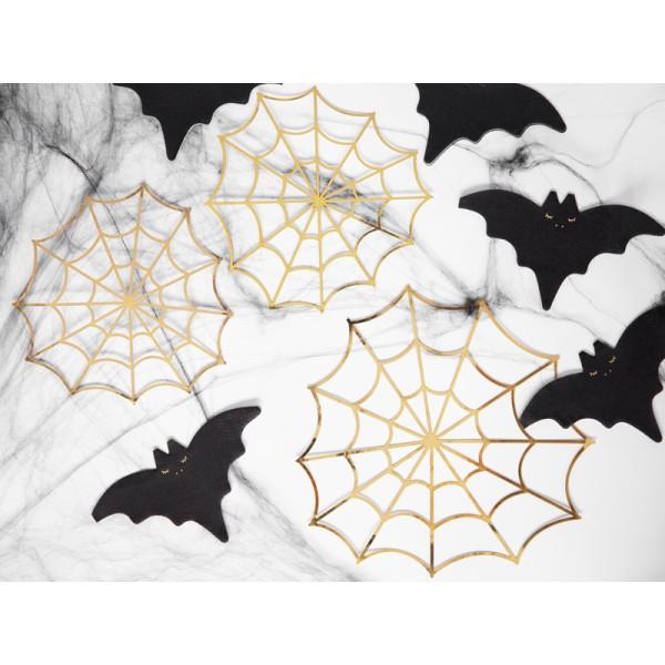 Confettis toiles d'araignées gold x3 - Photo n°3