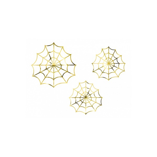 Confettis toiles d'araignées gold x3 - Photo n°1