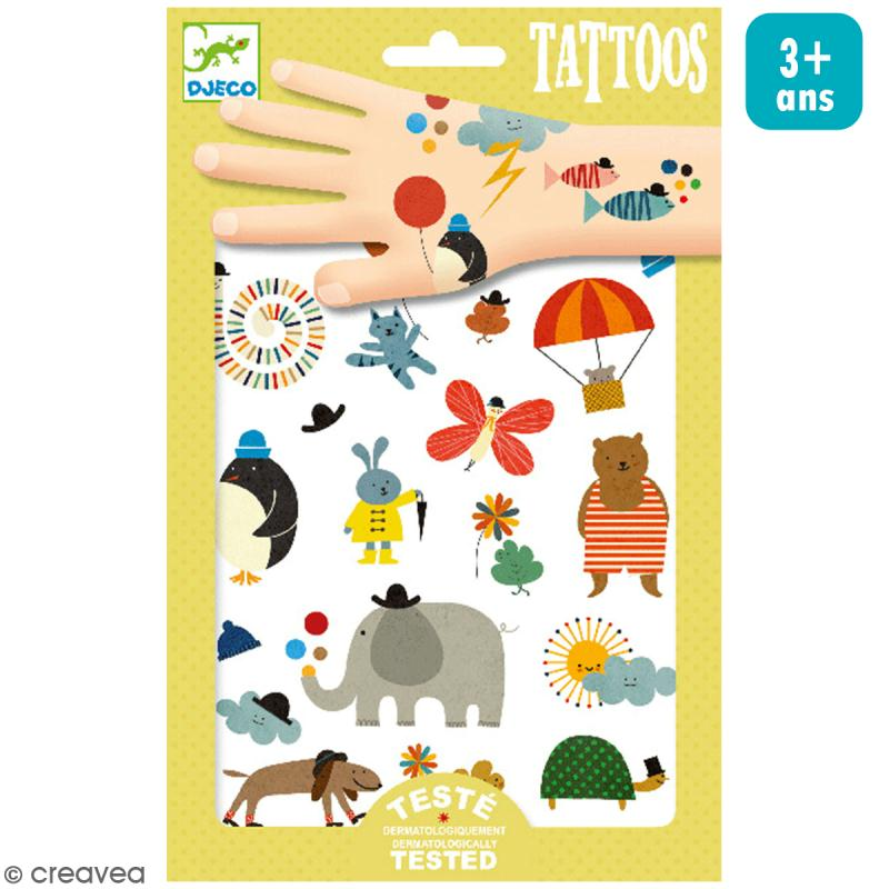 Tatouages temporaires Jolies petites choses - 1 planche - Photo n°1