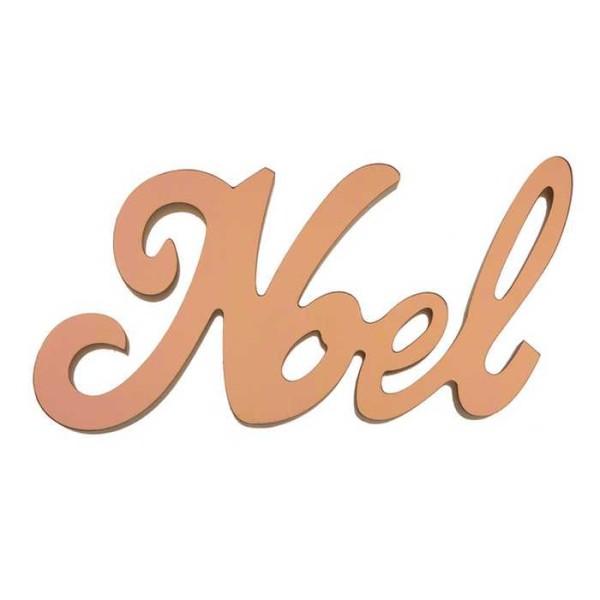 Lettres NOËL en bois métallisé rose gold - Photo n°1