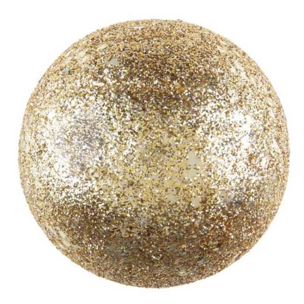 Assortiment de 10 boules pailletées or de 3, 4 et 6 cm - Photo n°1