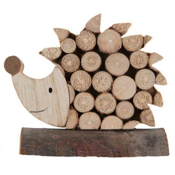 Déco de table Hérisson en bois - Photo n°1