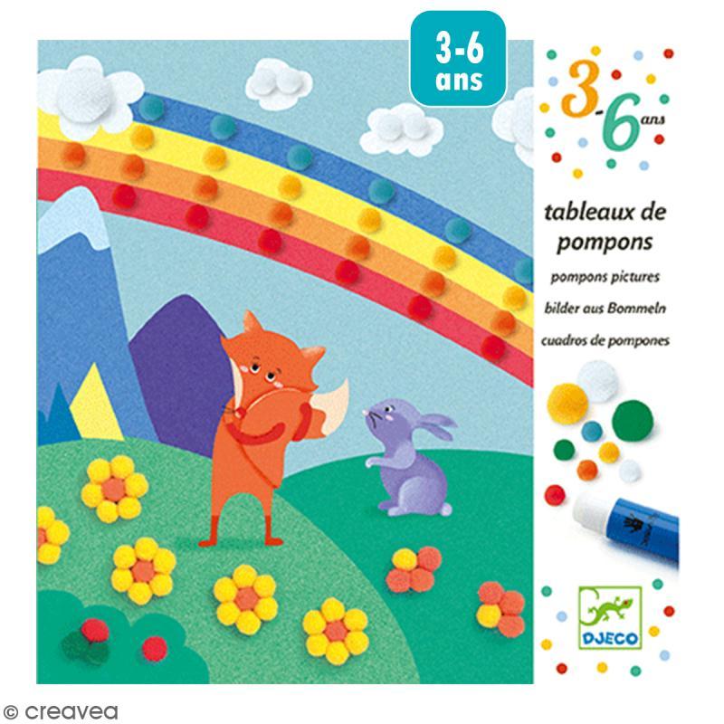 Tableaux de pompons - En douceur - Photo n°1