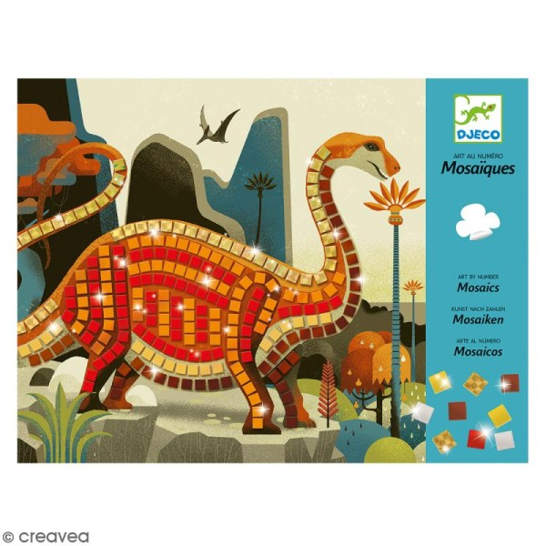 Djeco Art au numéro - Mosaïque - Dinosaures - Photo n°1
