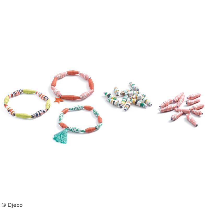 Djeco Perles de papier - Bracelets de printemps - Photo n°2