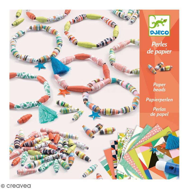 Djeco Perles de papier - Bracelets de printemps - Photo n°1