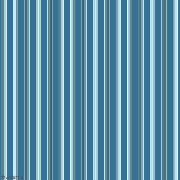 Papier scrapbooking Artemio - Bleu océan - 30,5 x 30,5 cm - 6 feuilles - Photo n°3