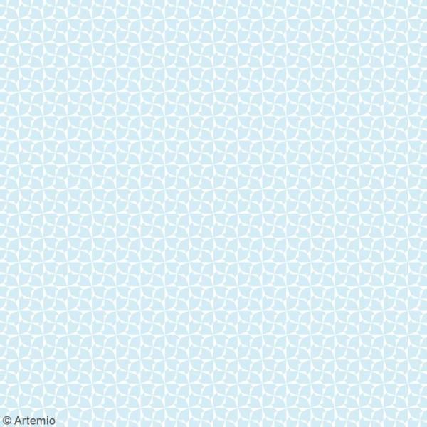 Papier scrapbooking Artemio - Bleu océan - 30,5 x 30,5 cm - 6 feuilles - Photo n°5