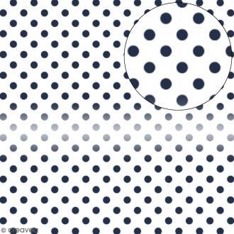 Papier scrapbooking Bazzill transparent 30,5 x 30,5 cm - Pois - Bleu admiral