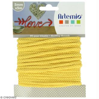 Fil de tricotin - Jaune - 5 mm x 5 m