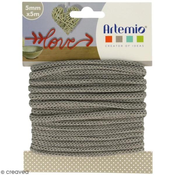 Fil de tricotin - Gris - 5 mm x 5 m - Photo n°1