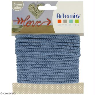 Fil de tricotin - Bleu - 5 mm x 5 m