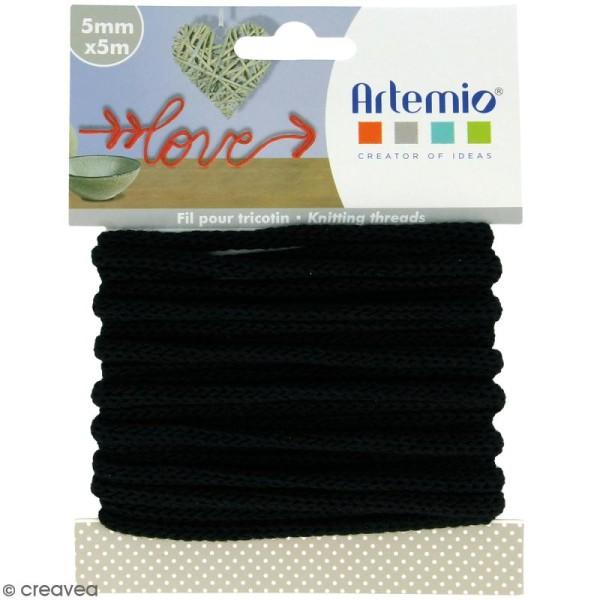 Fil de tricotin - Noir - 5 mm x 5 m - Photo n°1