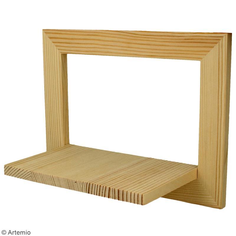 cadre tag re en bois 20 x 15 x 10 cm 2 pcs cadre photo d corer creavea. Black Bedroom Furniture Sets. Home Design Ideas