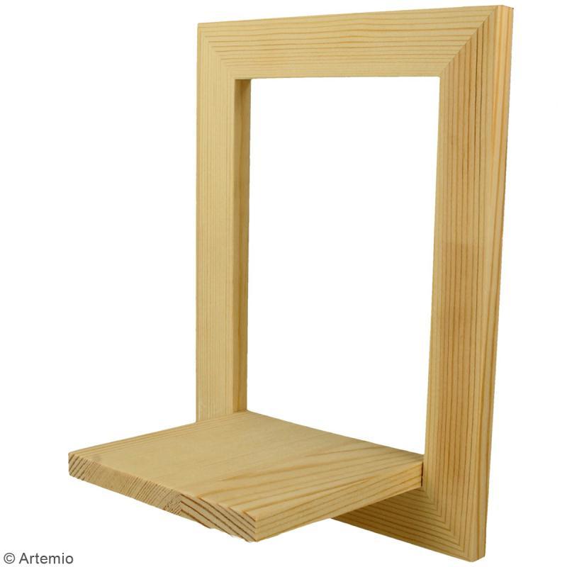 Cadre étagère en bois - 20 x 15 x 10 cm - 2 pcs - Photo n°5