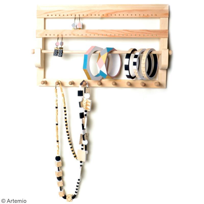 Porte bijoux en bois à décorer - 35 x 22 x 4,5 cm - Photo n°2