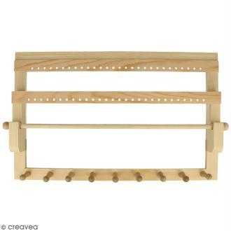 Porte bijoux en bois à décorer - 35 x 22 x 4,5 cm