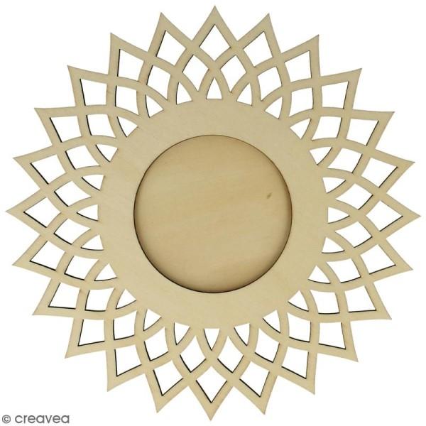 Cadre ajouré à décorer - Soleil - 20 cm - Photo n°1