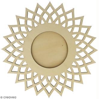 Cadre ajouré à décorer - Soleil - 20 cm