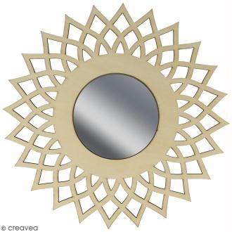 Miroir ajouré à décorer - Soleil - 20 cm