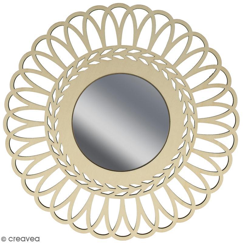 Miroir ajouré à décorer - Couronne - 28 cm - Photo n°1