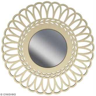 Miroir ajouré à décorer - Couronne - 28 cm