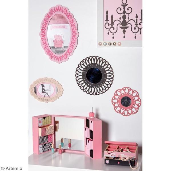 Miroir ajouré à décorer - Dentelle - 28 cm - Photo n°2
