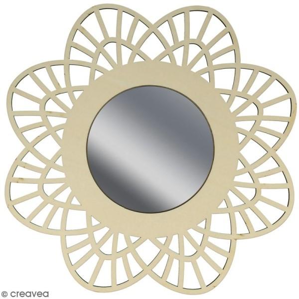 Miroir ajouré à décorer - Dentelle - 28 cm - Photo n°1
