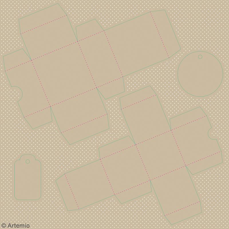 Boîtes à monter - Emballages cadeaux - 12 boîtes - Photo n°4