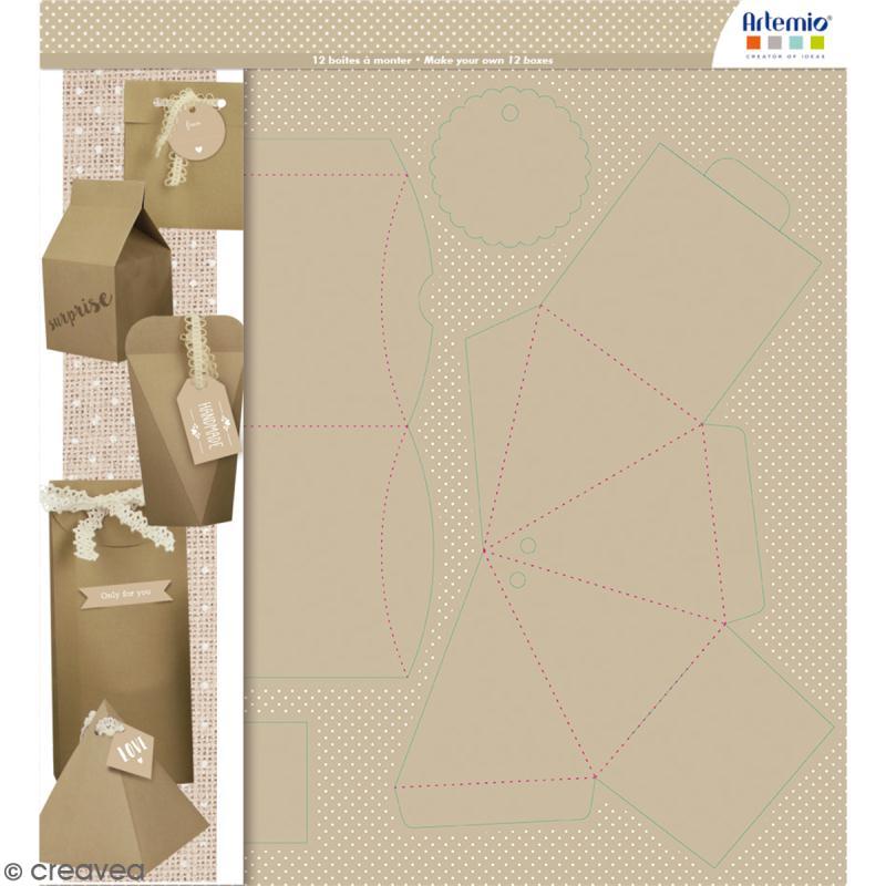 Boîtes à monter - Emballages cadeaux - 12 boîtes - Photo n°1