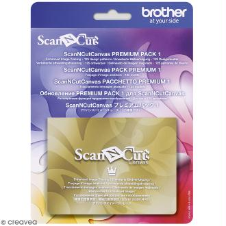 Accessoire Scan'n'Cut Canvas - Pack Premium 1 - 125 motifs