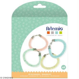 Kit bracelets à perles Artemio - Pastel - 4 bracelets