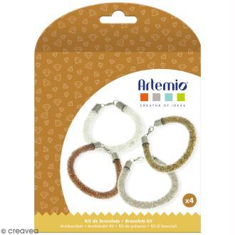 Kit bracelets à perles Artemio - Basique - 4 bracelets