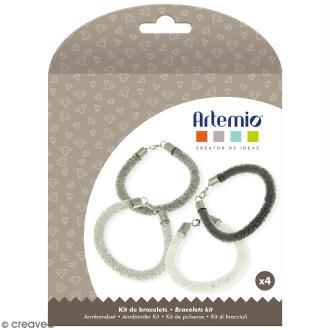 Kit bracelets à perles Artemio - Métal - 4 bracelets