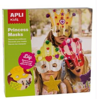 Masques Princesses à décorer - APLI Kids - x 3 (dès 4 ans)
