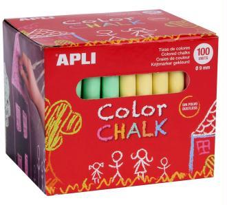 Boîte de 100 craies de couleurs APLI